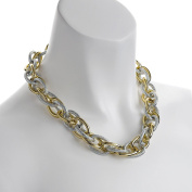 Fashion jewellery gold and silver plated oversized chunky large textured rope choker chain necklace