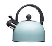 KitchenCraft Living Nostalgia Induction-Safe Whistling Stove-Top Kettle, 1.4 L (2.5 Pints) - Vintage Blue