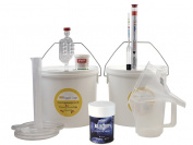 Starter Wine Making Set - Muntons Bilberry (Blueberry) 6 Bottle Size Country Wine Kit With Equipment - Home Made Homemade Wine