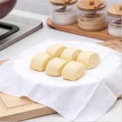 Dealglad® 5 Pcs Reusable Natural Pure Cotton Bamboo Steamer Cloth Best Quality Fabric Round Steamers Rack Gauze Pad