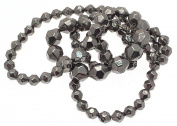 Grey Beaded Necklaces Beaded Jewellery Long Necklaces For Women Grey Jewellery