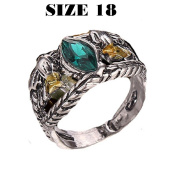 RGRN-RING-SIZE 18 ARAGORN THE LORD OF THE RINGS WITH GREEN FLOWERS, GIFT FOR MEN