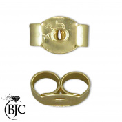 BJC® 9ct Yellow Gold 4mm Light weight Earring Backs / Scrolls / Butterfly Backs
