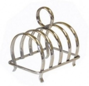 Chrome Plated Four Slice Toast Rack by Chabrias Ltd