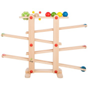 Ultrakidz 331900000012 Natural Wood Ball Run Schwab's Toy with 4 Balls and Rolling