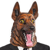 Carnival Mask Toys 1407 Latex German Shepherd Dog in Bag with Exhaust, Brown