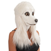 Carnival Toys 1455 Poodle Latex Mask with Exhaust, White
