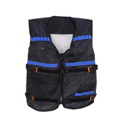 Kid's Elite Tactical Vest with a Pocket for Nerf N-strike Elite Series, Perfect for Adults(Less than 60 kg), Not Including Foam Darts