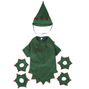Samber Puppy Dog Christmas Elves Costume Lovely Green Pet Dog Clothes With Hat, M