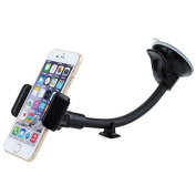 Mpow Windshield 22cm Long Arm Mobile Phone Holder Car Cradle Grip Universal Car Mount with Support from Dashboard, Gravitation Powerful, Compatible for iPhone 6S / 6 plus / 6 / 5s / 5, for Samsung Galaxy S7 / S6 Note 4, Google Nexus 5/4, LG G3, HTC ..