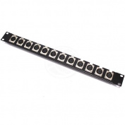 Cablematic - Patch panel 12 port rack19 female XLR3-1U