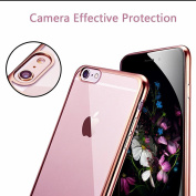 iPhone 7 Case, [Fusion] Rose Gold Back TPU Gel Case [Drop Protection/Shock Absorption Technology] For Apple iPhone 7 Case