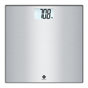Etekcity High Precision Digital Body Weight Bathroom Scale with Step-On Technology, 400lb/180kg, Stainless Steel Surface, Backlight Display, Slim Design, Silver White