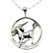 Sterling Silver Unicorn Pendant with 46cm Chain
