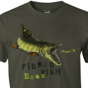 FLADEN Fishing - HUNGRY PIKE - 100% Cotton T-Shirts - Features Pike Attacking Lure Design - Ideal for those who love predatory fish