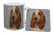 Orange Roan Cocker Spaniel Dog Mug and Table Coaster, Ref:AD-SC28MC