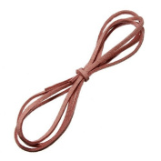 Water & Wood 1m Faux Suede Cord Craft Lace Leather Flat Cord DIY Rope Strings Bracelet Peach