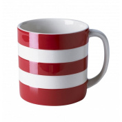 Cornishware Red and White Stripe Large Coffee Cup Mug, 440ml