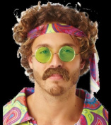 Rubie's 30348 Rubie's Official Adult 70s Moustache - brown Adult One Size One Size