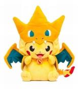30cm Pokemon Centre Mega Tokyo Pikazard Pikachu Charizard Plush Toys Doll by Aimee