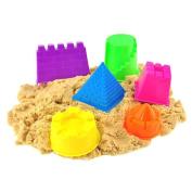 6pcs Assorted Sand Castle Moulds