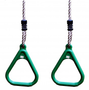 HIKS® Set of 2 Green Adjustable Gym Rings for Childrens Kids Climbing Frames and Swings