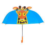 Kids Umbrella, Rainbrace Childrens Rain Umbrella for Boy and Girl with 3D Ears, Giraffe