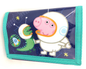 PEPPA PIG GEORGE COSMIC BOYS TRIFOLD MONEY CHANGE NOTES COINS WALLET OFFICIAL