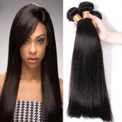 ZM Hair 7A Grade Brazilian Hair 3 Bundle Straight Hair Extensions Human Hair Weft