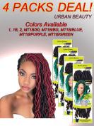 4 Packs of Urban Beauty NaturAll Goddess Faux Locks 30cm Long Crochet Hair