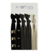 Knotties Snag Free Hair Accessories, Embellished Gold