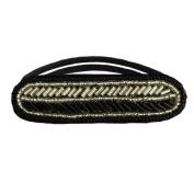 Tassel Alton Hair Tie, Black Silver