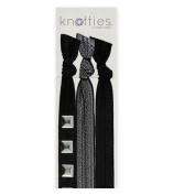 Knotties Snag Free Hair Accessories, Silver Sonic