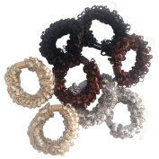 Thick Solid Stretch Pony Elastics Ponytail Holders,Hanmei