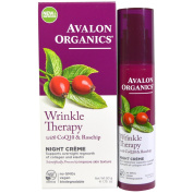 Avalon Organics, Wrinkle Therapy, with CoQ10 & Rosehip, Night Creme, 50ml (50 g) - 2pc