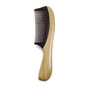 Silentrees No Static Buffalo Horn Comb with Sandalwood Handle