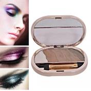 NandaBeauty Nude Warm Colour Makeup Bake Cosmetic Baked Eyeshadow Palette Smoky Eye Shadow