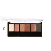 Fullkang Retro 6 Colours Smoky Eye Shadow Makeup Makeup Kit Charming