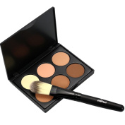EFINNY Face Powder Contour Make Up Studio Fix Bronzer Shading Mineral Pressed Powder Palette A04