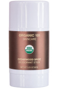 ORGANIC 101 Cedarwood Spice - USDA Certified, All Natural, Extra-Strength Deodorant - No Aluminium, Parabens, & Other Toxic Chemicals - Stay Clean, Smell Fresh