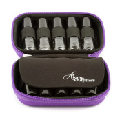 Essential Oil Carrying Case - Purple - Fits TEN 10ml Roller Bottles - (Can hold 10ml, 10ml Rollers, & 5ml) Travel Bag Organiser works with Young Living, doTERRA, Plant Therapy and more