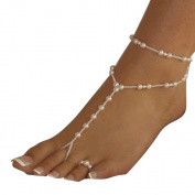 Perfect Star Women Beach Imitation Pearl Barefoot Sandal Foot Jewellery Anklet Chain