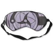 Naruto Rinnegan Sharingan Eyes Natural Silk Eye Sleep Mask For Travelling White
