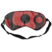 Naruto Sharingan Eyes Natural Silk Eye Mask For Travelling White