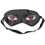 Shippuden Naruto Sharingan Eyes Natural Silk Sleeping Eye Mask For Travelling White