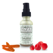 Mizai Raw Organic Superfood Face Oil Serum, PURE GRACE for Sun Damaged Skin Infused With Carrot, Raspberry, Buriti Fruit, Ginseng and Acai