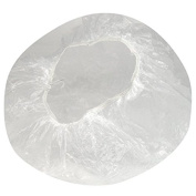 100PCS Clear Plastic Disposable Waterproof Shower Caps