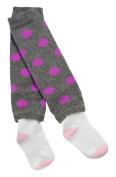 Otium Brands Infant Leg Warmer Socks- Grey with Pink Dots