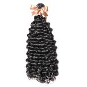 GoldRose Beauty High Quality Grade 6A Curly Wave Brazilian Virgin Human Hair 100% Unprocessed 1 Bundle 100g Natural Colour 60cm