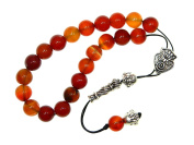 A2-0416 - Greek Style Loose Strung Prayer Beads 10mm Natural Agate Gemstone Beads Handmade by Jeannieparnell